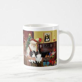 Santa's 2 Japanese Chin Coffee Mugs