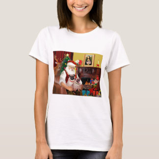 Santa's 2 Pugs (f+B) T-Shirt