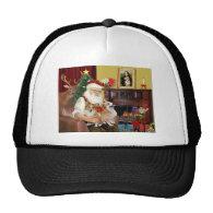 Santa's 2 Welsh Corgis (Pem.) Mesh Hats