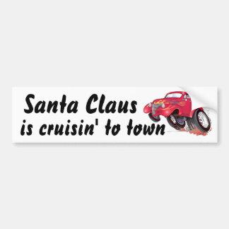 Santa's 39 Chevy bumpersticker Car Bumper Sticker