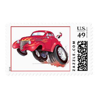 Santa's 39 Chevy stamp