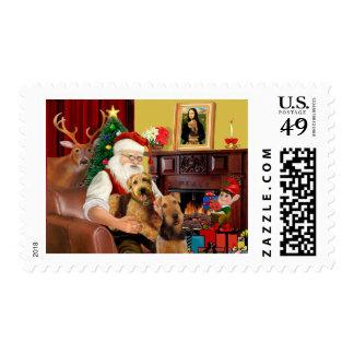 Santa's Airedales Postage