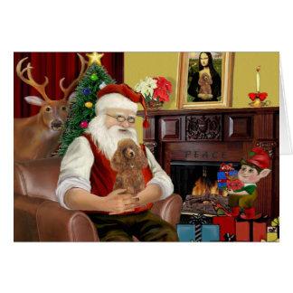 Santa's Apricot Toy /Min. Poodle Cards