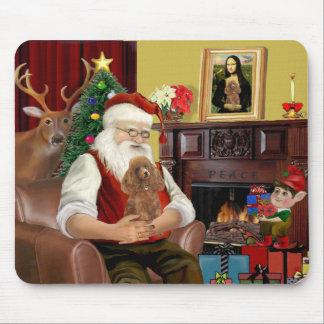 Santa's Apricot Toy /Min. Poodle Mouse Pad