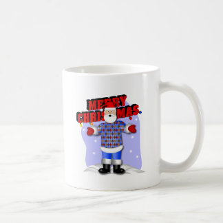 Santa's Argyle Sweater Coffee Mug