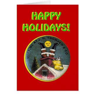 Santa's At It Again! - Card