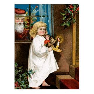 Santa's at the Window Postcard