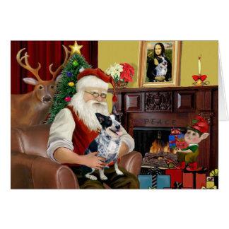 Santa's Australian Cattle Dog (#1) Card