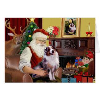 Santa's Australian Shepherd (merle) Cards