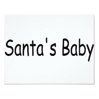 Santas Baby Invitation