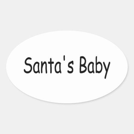 Santas Baby Oval Sticker