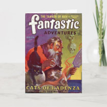 Santa's Bad Cats Holiday Card