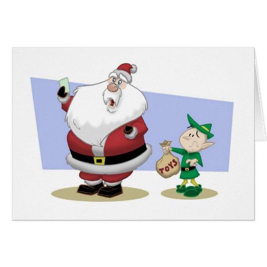 Santa's Bad Year Christmas Card