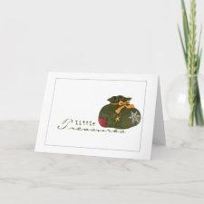 santas bag little treasures holiday card card