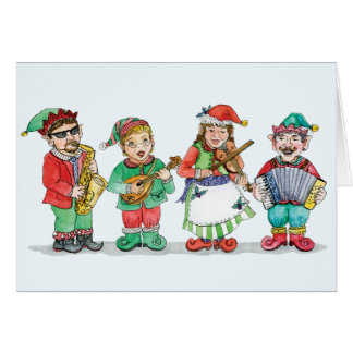 Santa's Band of Elves Card