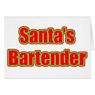 Santa's Bartender Stationery Note Card