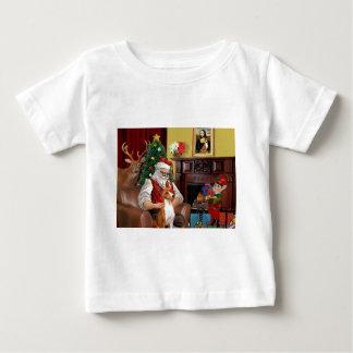 Santa's Basenji Baby T-Shirt