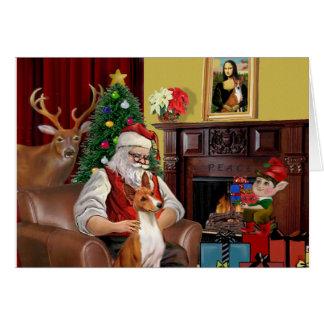 Santa's Basenji Card
