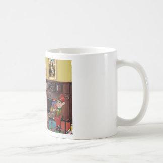 Santa's Basenji Coffee Mug