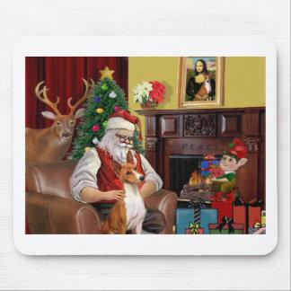 Santa's Basenji Mouse Pad
