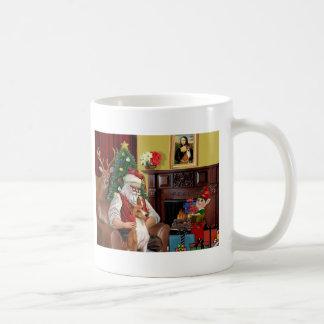 Santa's Basenji Mug