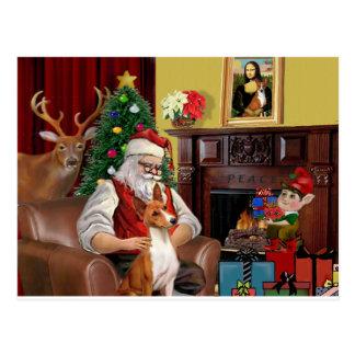 Santa's Basenji Postcard