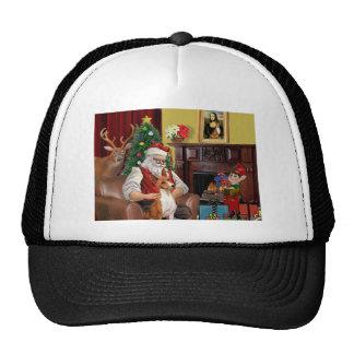Santa's Basenji Trucker Hat