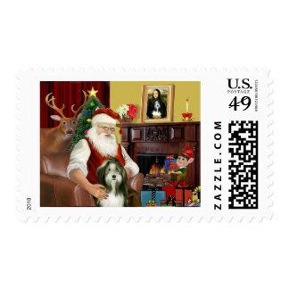 Santa's Bearded Collie (#9) Postage