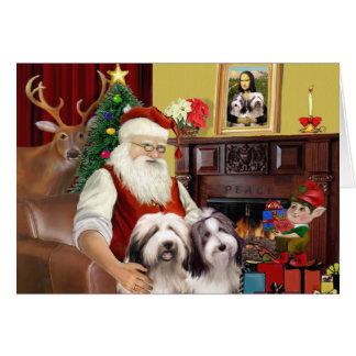 Santa's Bearded Collie Card