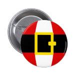 Santa's Belly Belt Christmas Day Design 2 Inch Round Button