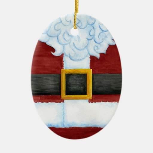 Santa's Belly Ornament
