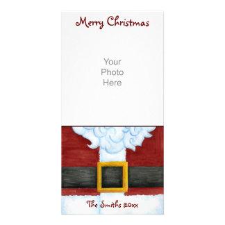 Santa's Belly Photo Card