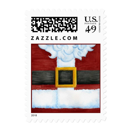 Santa's Belly Postage Stamp
