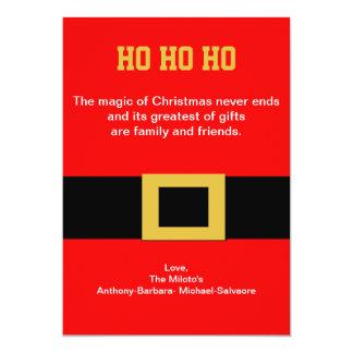 Santa's Belt Buckle Christmas Card