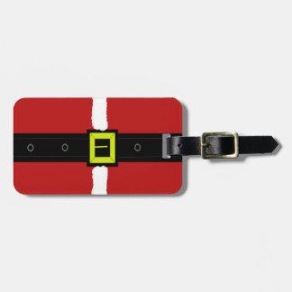 Santas Belt Buckle Luggage Tag