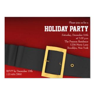 Santa's Belt Holiday Party Invitation