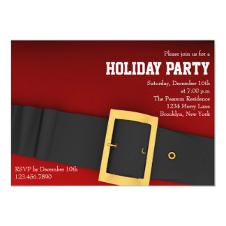Santa's Belt Holiday Party Invitation