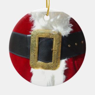 Santa's Belt [Ornament] Double-Sided Ceramic Round Christmas Ornament