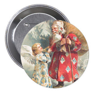 Santa's Best Christmas Wishes Button