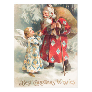 Santa's Best Christmas Wishes Postcard
