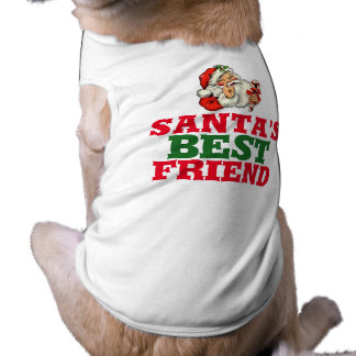 Santa's best friend Christmas shirt for dog