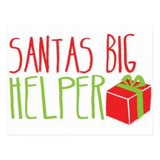 SANTAS BIG Helper Postcard
