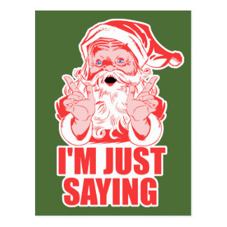 Santas Big Holiday Postcard