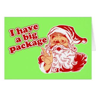 Santas Big Package Card