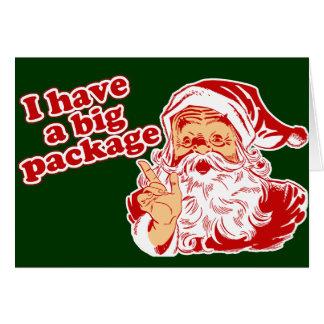 Santas Big Package Cards