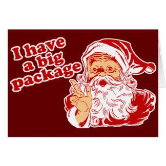 Santas Big Package Greeting Card