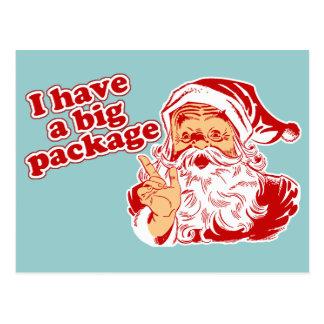 Santas Big Package Postcard
