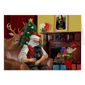 Santa's Black Pug Card