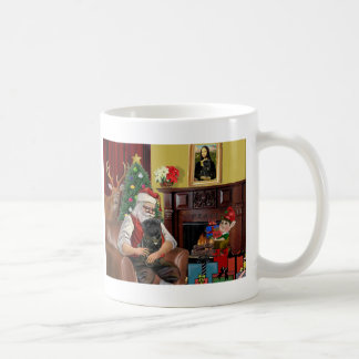 Santa's Black Pug Coffee Mug