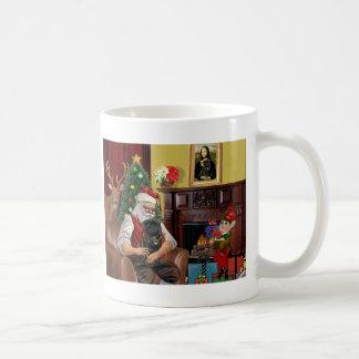 Santa's Black Pug Coffee Mug